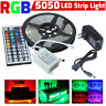 5m RGB 5050 NO Impermeable Tira de luces led SMD + 44 Llave a distancia +12v Red