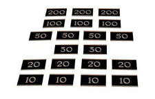 PERADON SET OF 20 METAL NUMBER PLATES FOR BAR BILLIARD TABLES S4986