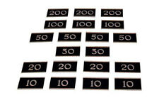 Peradon Set di 20 METAL targhe per bar, i bigliardi di