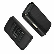 for FREETEL REI 2 (2018) Metal Belt Clip Holster with Card Holder in Textile ...