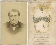 Disdéri, Prince Jérome Napoléon Bonaparte CDV vintage albumen, Tirage albuminé