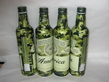 Armed Forces Camoflauge Budweiser America beer 16 oz bottle-can top-opened