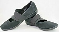 CLARKS Collection Soft Cushion Womens 6.5 W Black Suede Mary Jane Flats   P148
