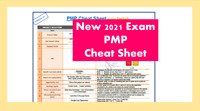 NEW 2021 PMP Cheat Sheet ***NEW VERSION 2***; Exam Prep + PMP Cost Formulas PMI