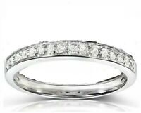 solid 14k white gold 2.50carat round diamond wedding band with full round stones