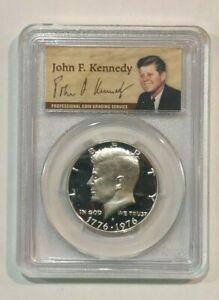 1976-S Kennedy SILVER Half Dollar PCGS PR-69 DCAM  JFK 50th Anniv Special Label