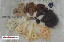 Soft Curly Doll hair weft BJDs Monster High, 15cm 1/6 Replug Reroot Modify Craft