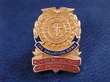Vintage Enameled 10K Gold Filled Balfour Salvation Army Pin Screw-back Lapel