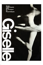 ballet GISELLE vintage ad poster A HOFMANN switzerland 1959 24X36 grace ART