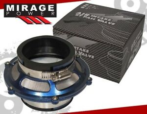 """3"""" Cold Air Intake Flow Engine Bypass Valve Filter + Clamp Blue For RX8 Protege"""