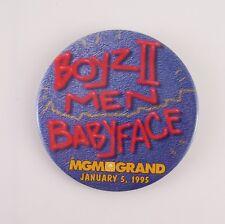 """1995 Boyz II Men Babyface MGM Grand Las Vegas Collectible 3"""" Pinback"""