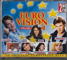 EUROVISION VOL1 2-CD Celine Dion Sandie Shaw Vicky Leandros France Gall BR MUSIC
