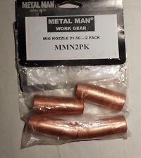 (2 Pcs) Metal Man MMN2PK Metal Man MIG Nozzle 21-50 , (1 Pack of 2)