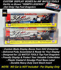 2 Custom Display Cases AW  'Garlits vs Brown' 300MPH LEGENDS Set Only Cars INTRO