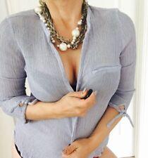 3/4 Sleeve Button Down Shirt Regular ZARA Tops & Blouses for Women