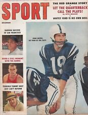 SPORT MAGAZINE DEC. 1958-UNITAS, MAYS,TOMMY BOLT COVER-RED GRANGE ARTICLE