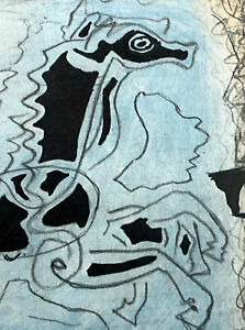Georges Braque LIMITED Edition LITHOGRAPH (Horse 1955) w/ Archival Frame