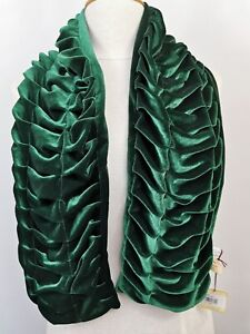 DENTS Evergreen Velvet Scrunch Pleated Stole Scarf NEW With Tags FREE P&P