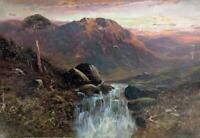 CADER IDRIS GWYNEDD WALES Oil Painting J MAURICE - 19TH CENTURY - MOUNTAINS