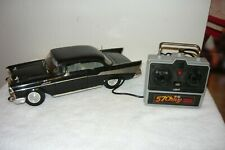 New Bright 57 Chevy Bel Air Remote Control Corded Rc Car 1986 Black tested works