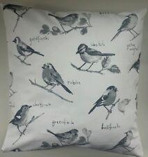 "Shabby Chic Cushion Cover in Prestigious Garden Birds Bluetit Robin Finches 16"""