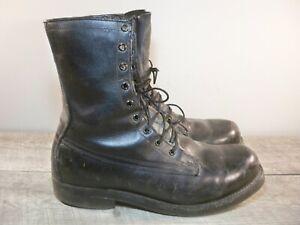 Vtg 70s Vietnam Nam Era Black Leather Combat Soft Toe Punk Chopper Boots Men's 7