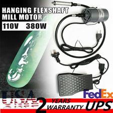 380W Chuck Hanging Flexible Shaft Mill Motor Jewelry Repair Tool Kits 4mm Us