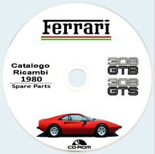 FERRARI  308 GTB/GTS spare parts + owners manual with wiring diagram.