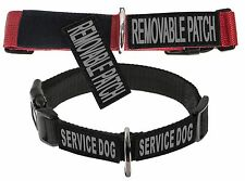 Dogline Omega Nylon Collar with Removable Patches Service Therapy