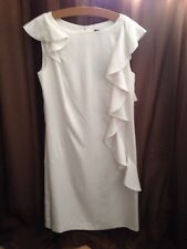 "Oasis- White Sleeveless Dress - Size 8 - Length 34"" - New"