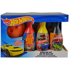 Bowling Set HOT WHEELS Racing Cars Kids 6 Pins 1 Ball Play Toy Birthday Gift 2+