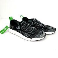 Sanuk Mens 7 Womens 8 Gray Black Chiba Quest Knit Sidewalk Surfer Shoes 1091090