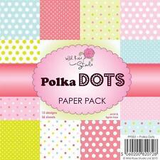 Blocco Carta Scrapbooking 15 x 15 cm - Polka Dots © Wild Rose Studio PP001