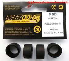 M003 mitoos RACING PNEUMATICI x4-S3 - 19 x 10 mm-NUOVO