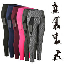 Women Ultra-Soft Stretch Yoga Leggings Quick-drying Sports Trousers with Pockets