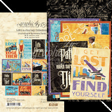 Graphic 45 LIFES A JOURNEY Ephemera & Journaling Cards x32