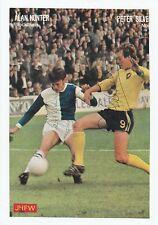 Peter Silvester Norwich City & Allan Hunter originale firmato a mano Rivista di taglio