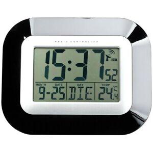 TFA 60.4503 Digital Display Battery Radio Controlled Time Table/Wall Clock