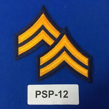 Police Corporal Chevron Embroidered Shoulder Patches Dk. Navy/Gold PSP-12
