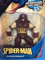 SPIDER-MAN JUGGERNAUT WITH REMOVABLE HELMET FIGURE SUPERHERO HASBRO RARE
