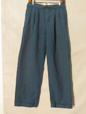 D9036 No Brand Wool Dark Blue Striped Vintage 30's Pants Men's 29x30