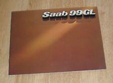 Saab 99 GL Brochure 1977 - Saloon & Combi Coupe