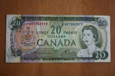 1969 replacement  Canada 20$  Bank of Canada Banknote *WV serie F-VF