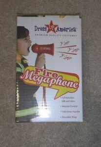 Fire Fighter Megaphone Kids Red - Dress Up America - Brand New