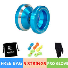Magic YOYO Ball N8 Dare to do Aluminum Alloy Kids Toys Gift Blue 5 String 1BagKH