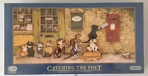 Linda Jane Smith Crazy Cats Catching The Post Gibson 636 piece jigsaw puzzle New