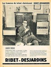 PUBLICITE ADVERTISING 124  1960  RIBET-DEJARDINS  LE WAGNER-STEREO  JOSEPH KOSMA