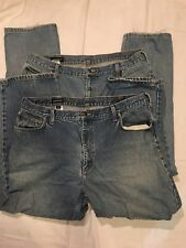 (2) LANDS END MENS JEANS - RELAXED FIT - 40X32