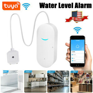 Smart WiFi Water Leak Sensor Flood Leakage Level Alarm Overflow Detector Alert
