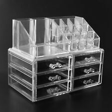 Make up Cosmetics Jewelry Organizer Clear Acrylic 6 Drawers Display Box Storage